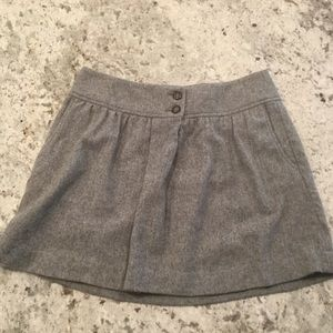 Gap gray wool mini skirt